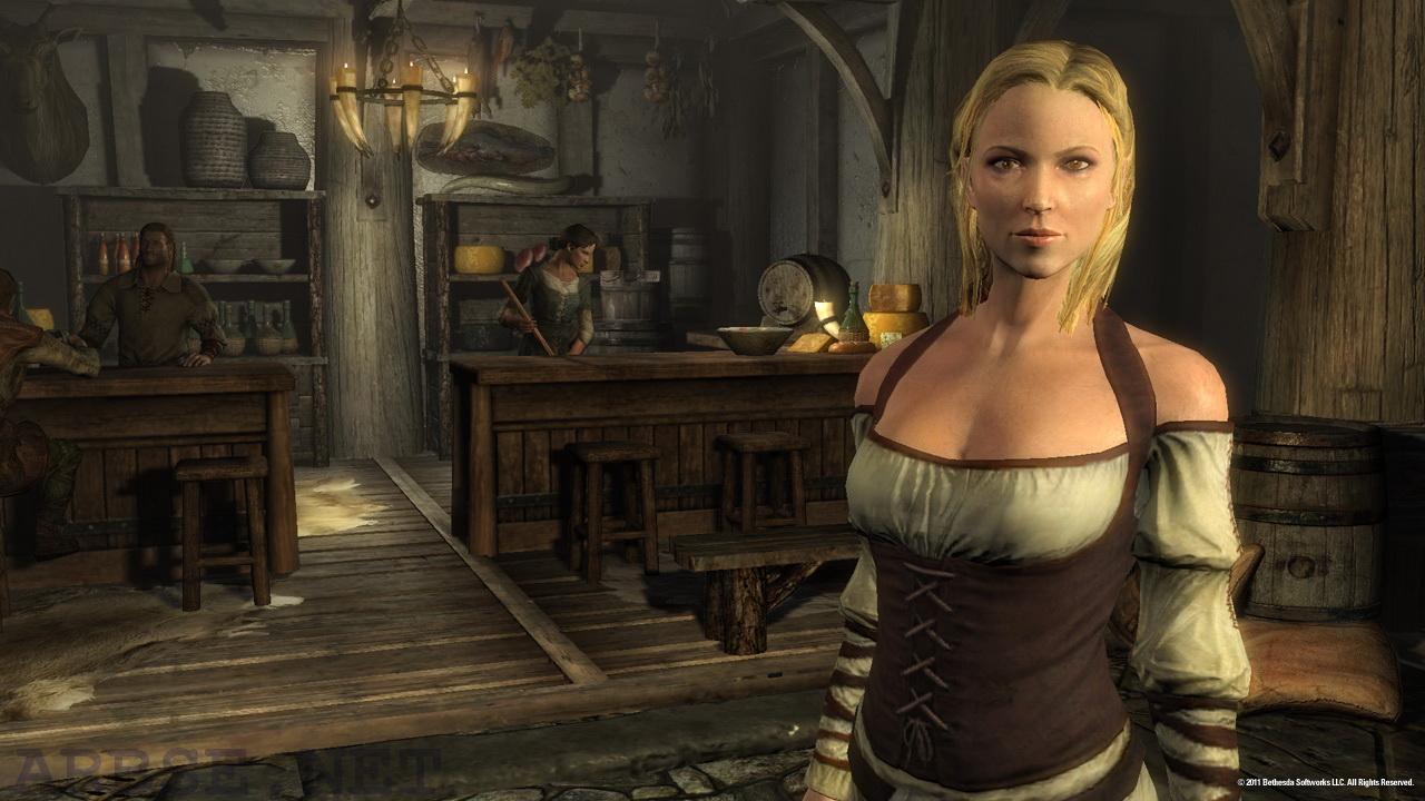 Skyrim скриншот сиськи женщины
