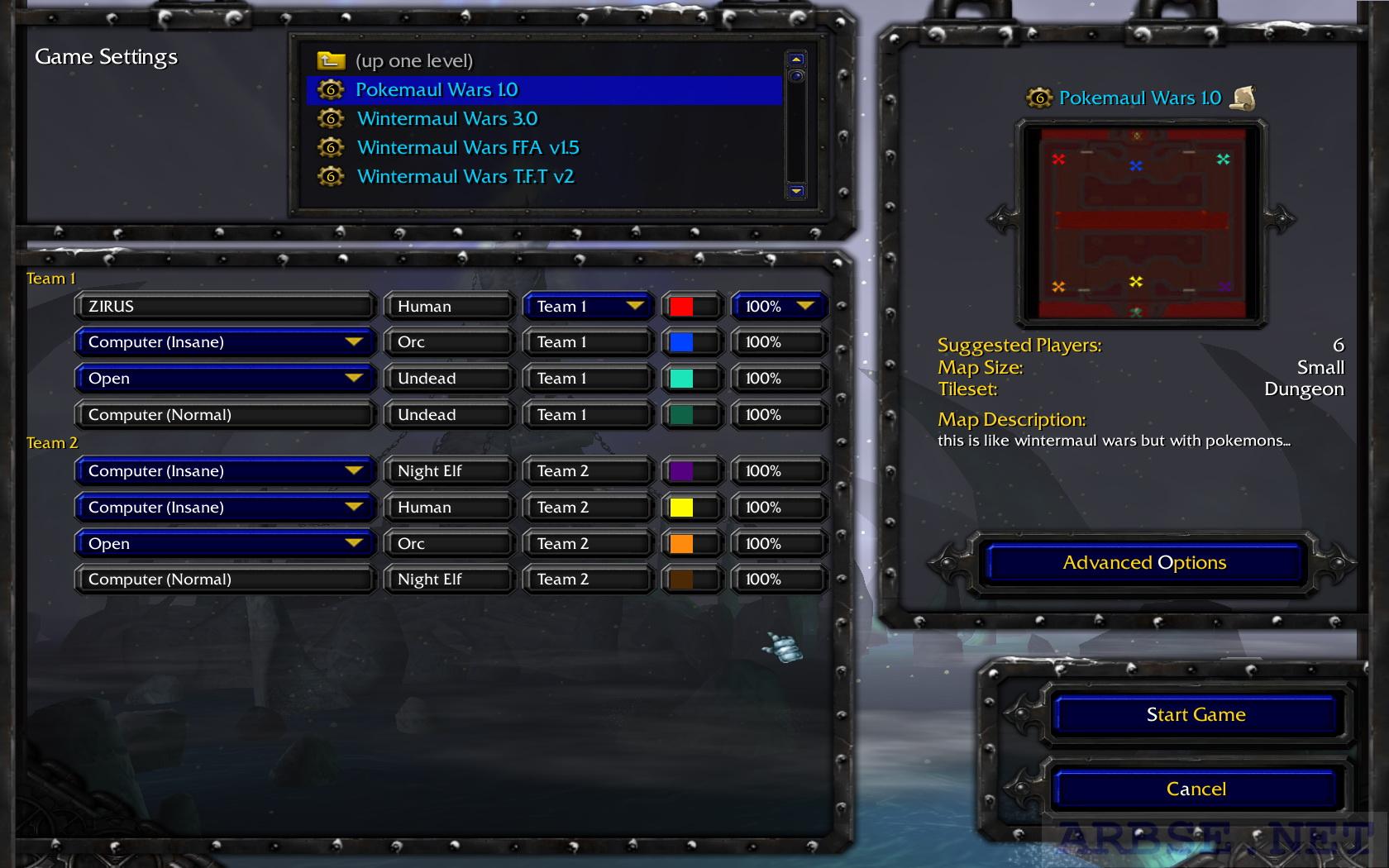 Warcraft 3 maul карты - Пакет пользовательских карт для
