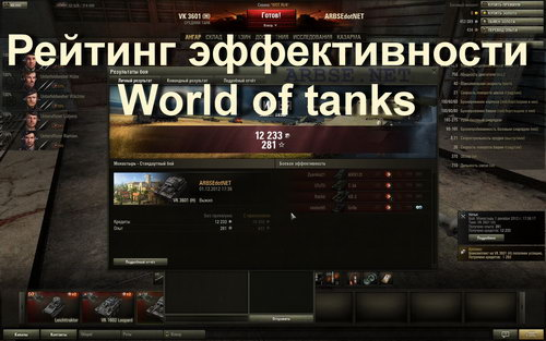 ������� ������������� World of tanks