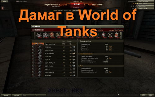 Дамаг в World of Tanks
